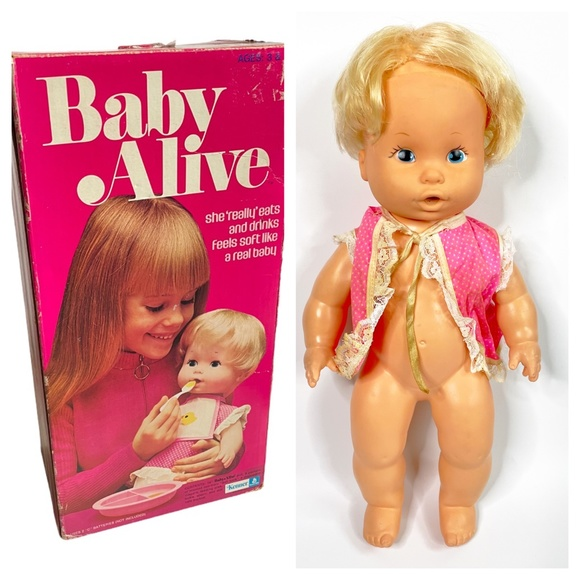 VINTAGE 1973/1974 KENNER BABY ALIVE DOLL WITH BOX
